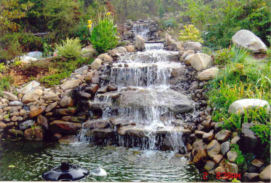 Best way to build a waterfall tropical fish keeping for House built on waterfall